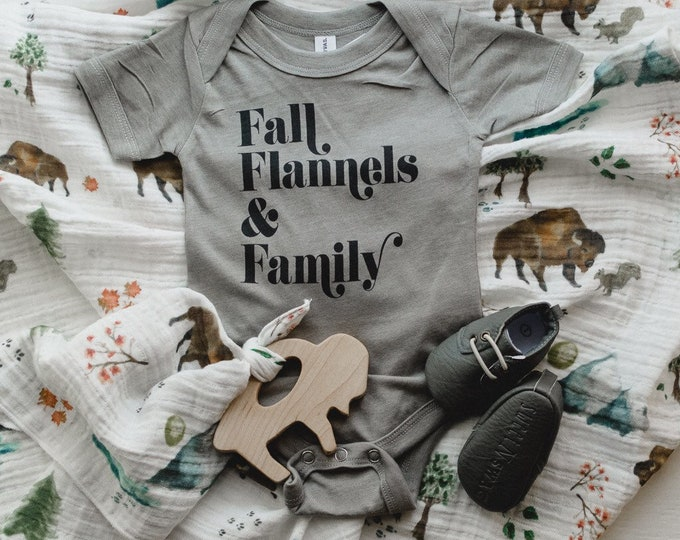 Fall Flannels & Family | Baby Bodysuit