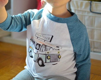 Taco Truck /// Baseball Style /// Toddler Tee