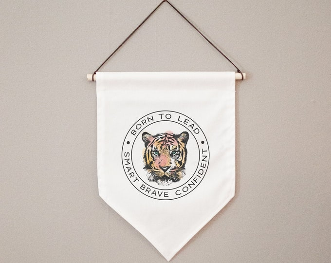 Born to Lead Tiger | Canvas Hanging Wall Banner