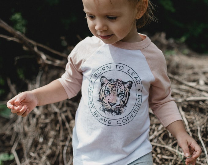 Born to Lead Tiger | Baseball Style T-shirt