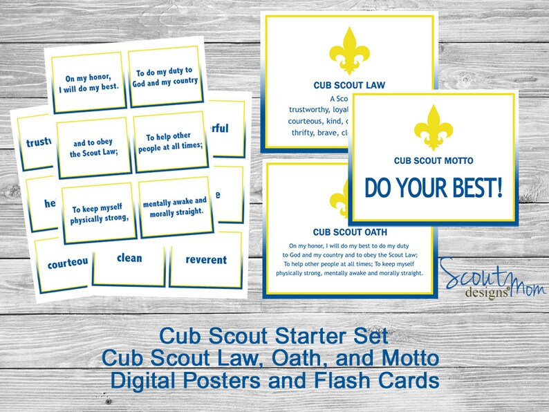 photograph regarding Cub Scout Oath Printable referred to as Beginner Fastened for Contemporary CUB SCOUTS, Discover Cub Scout Legislation, Oath, Motto simply with Flashcards and Posters, Expected for Bobcat Rank, Electronic Data files