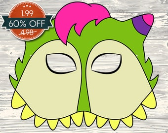 60% OFF SALE Monster #2 Printable Mask
