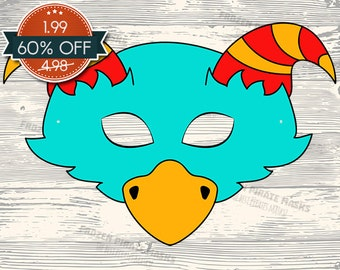 60% OFF SALE Monster #4 Printable Mask