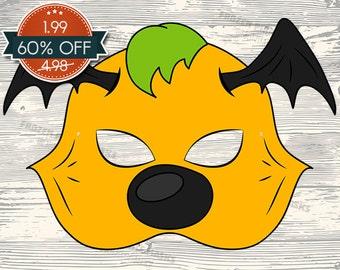 60% OFF SALE Monster #3 Printable Mask