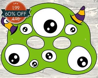60% OFF SALE Monster #6 Printable Mask