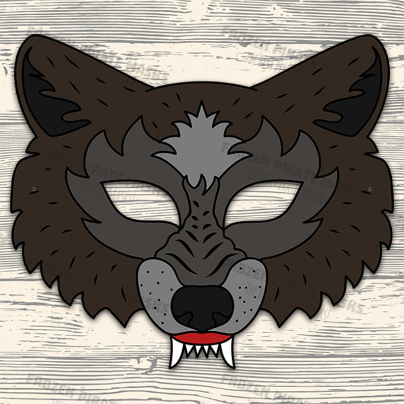 photo about Wolf Mask Printable identified as 60% OFF SALE Substantial Lousy Wolf Mask Printable wolf gown animal mask gray wolf masks little ones mask wolf masquerade wolf halloween