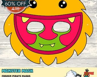 60% OFF SALE Monster #5 Printable Mask
