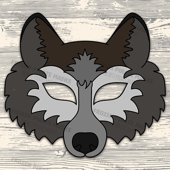 photo regarding Printable Wolf Mask Template for Kids named 60% OFF SALE Wolf Mask Printable wolf dress animal mask gray wolf masks young children mask wolf masquerade wolf halloween