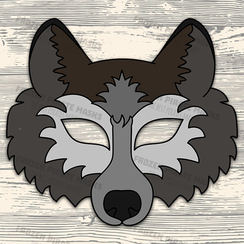Challenger image intended for wolf mask printable