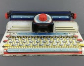 Marx Brothers Junior Typewriter, Tin Toy, Dial Litho Metal, Vintage 1950s Collectible