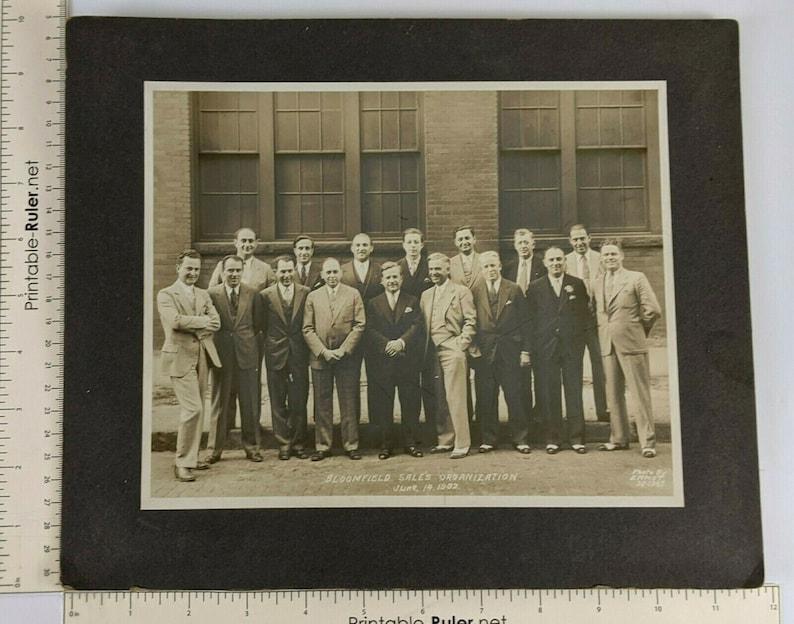 1932 Bloomfield Sales Organization Businessmen Photograph