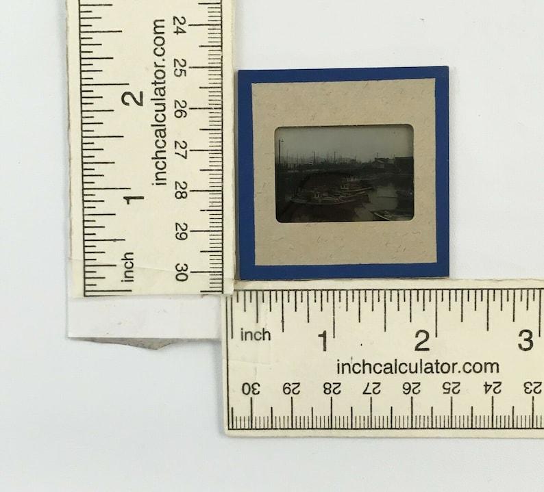1940s 35mm Slide of Fishing Boats Wharf Union Pier Bocelli Boss Mid Century Travel Souvenir Small Fisherman Town