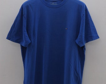 ed49f061 Vintage Tommy Hilfiger Minimalist Logo T-Shirt Designer Fashion Street Wear  Swag Top Tee Size L