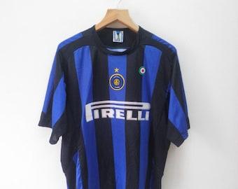 20d3972c4 Vintage Inter Milan No.7 Luis Figo Football Jersey Outdoor Sport Wear Top  Tee