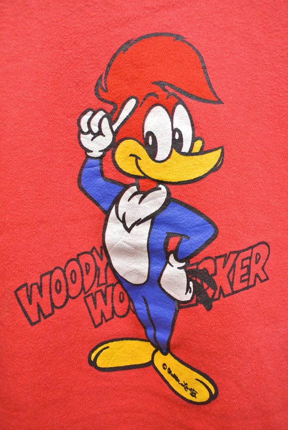 Woody Woodpecker Retro Logo Adult Tank Top