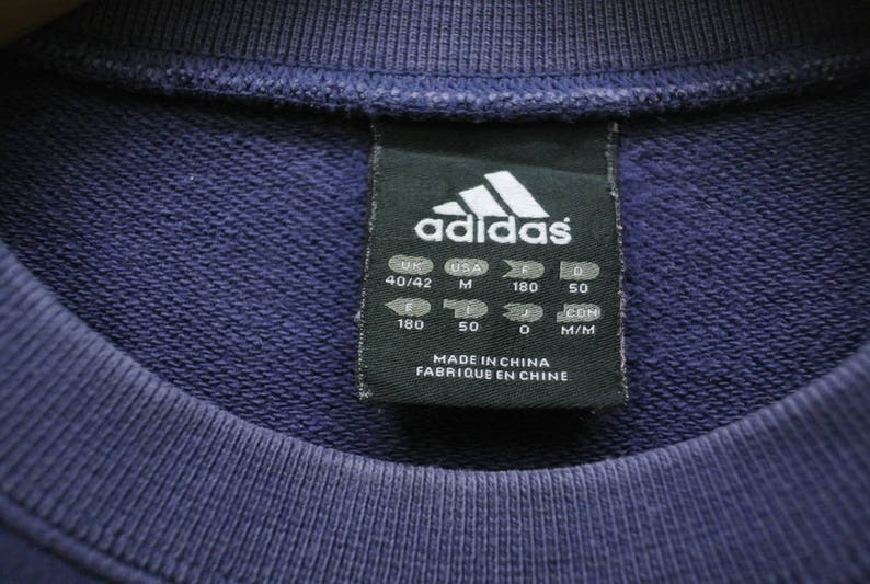 bef6d46fc69df Vintage Adidas Futebol Sweatshirt Sport Street Wear Sweater Blue Color Size  M