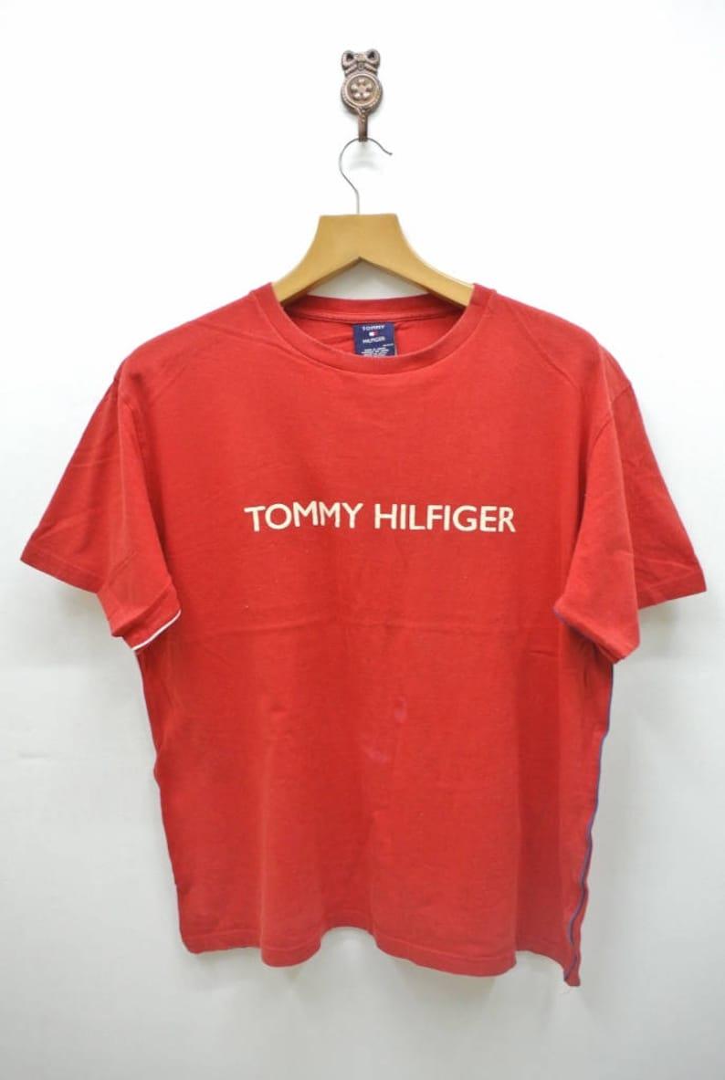 d55edf696 Vintage Tommy Hilfiger Spellout T-Shirt Urban Fashion Street | Etsy