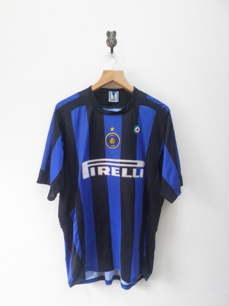 low priced 750ed b99a8 Vintage Inter Milan No.7 Luis Figo Football Jersey Outdoor Sport Wear Top  Tee