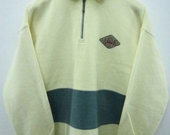 Vintage Canterbury Of New Zealand Half Zipper Sweatshirt Rugby Nation Minimalist Logo Sweater Size M
