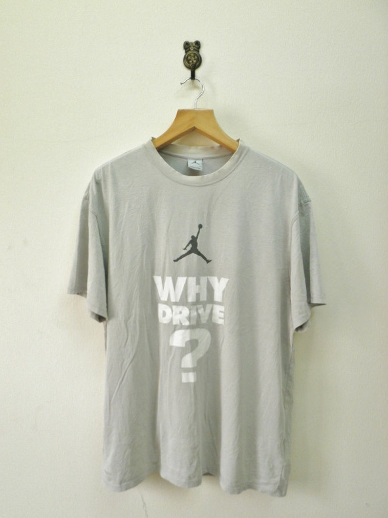 check out a153e 55162 Vintage Nike Air Jordan Jumpman Logo T-Shirt Sport Street   Etsy