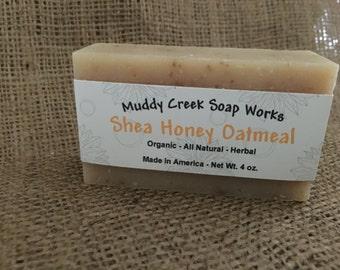 Organic - Shea Honey Oatmeal Bar Soap