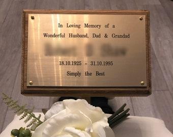 Grandma Memorial Plaque /& Stake Brushed Silver Waterproof garden grave