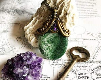 Moss Agate Amulet