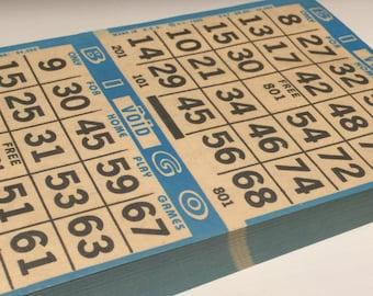 Huge Stack of Blue Bingo Paper Lot Vintage 1989 Made in USA