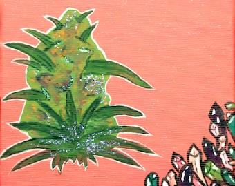 46b64654dda28 Cannabis Nug Painting - Nug Art - Original Art - Original Print - Cannabis  Art - Weed Art Print
