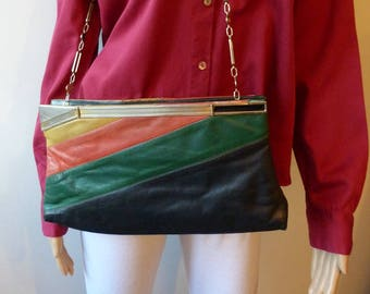 bag 4 color leather 70 s Mongiameli