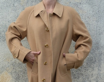 Burberry long coat size 44/XL Cashmere Wool