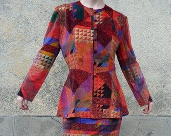 CHACOK VELVET suit size 34/36 fr XS size 0