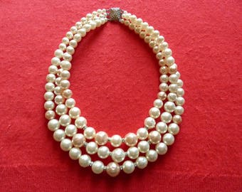 imitation Pearl Necklace clasp necklace