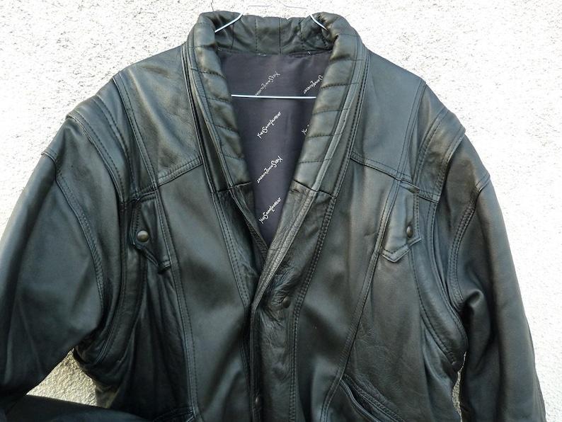 19e0e9a4fd6 Leather Biker/rock style jacket size M man YVES SAINT LAURENT | Etsy