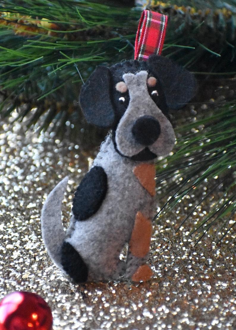 Custom Dog Christmas Ornament // Personalized Handmade Felt image 7