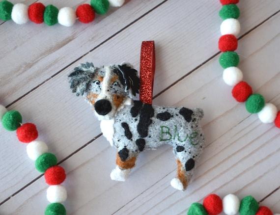 Australian Shepherd Christmas Ornament.Handmade Australian Shepherd Ornament Australian Shepherd Christmas Ornament Aussie Holiday Decor