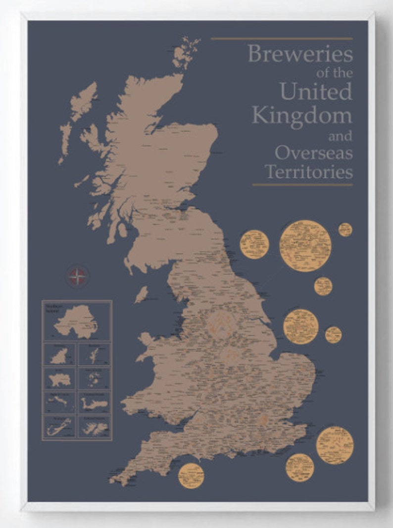 Map Of Uk Overseas Territories.Updated Map Of All The Breweries In The United Kingdom Updated 10 12 17
