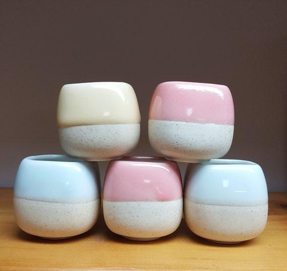 5 Pcs Mini Ceramic Macarons Color Bonsai Pot Flower Pot Etsy