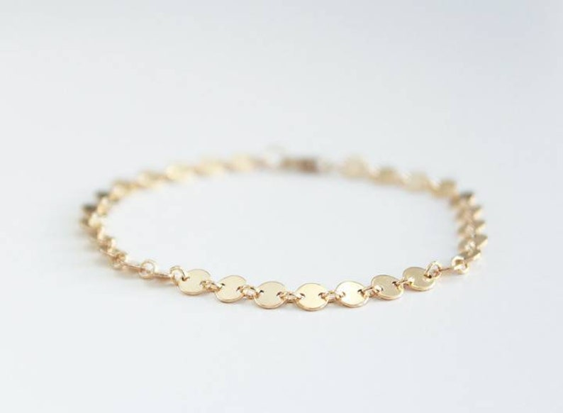 f2f003a3851e4 Gold Coin Bracelet • 14k Gold Filled Bracelet • Gold Bracelet • Womens  Bracelets • Dainty Bracelet • Gold Jewelry • Gifts For Her