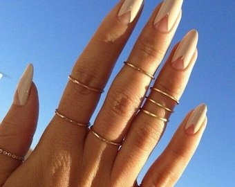Midi Rings, Gold Stacking Rings, Knuckle Rings, Rose Gold Rings, Rings, Gold Midi Rings, Stacking Rings, Women's Jewelry Gift, Womens Rings