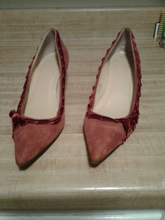 Vintage J.Crew Velvet and Leather Shoes
