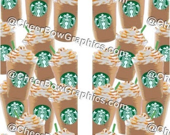 799217b00338 Starbucks Frappuccino Cheer Bow Graphics Print at Home Sublimation Strips  Download