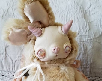 Three Sugar- Demon doll, strange creature, fantasy creature, ooak doll