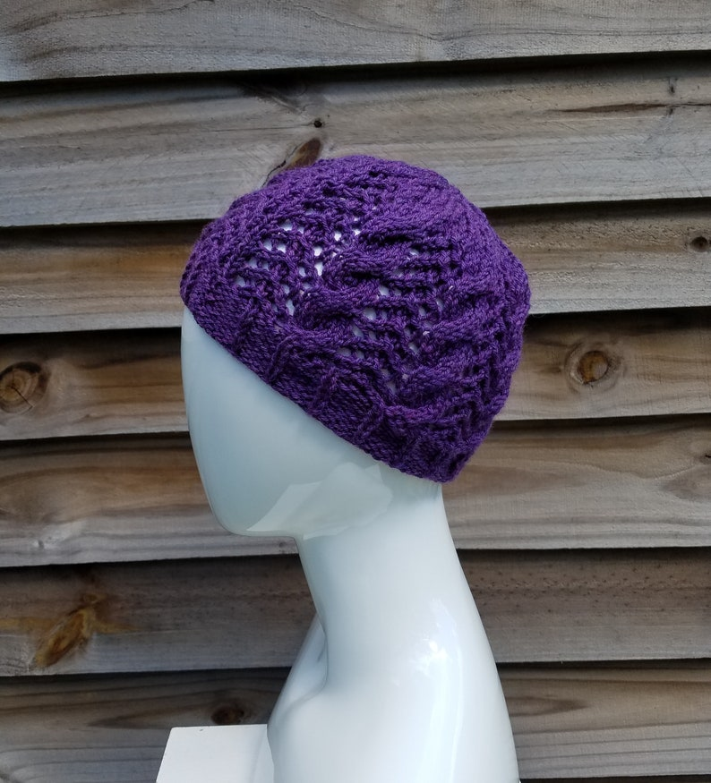 9f3b6ae9b2d70 Cable knit beanie wool benie purple wool hat purple hat