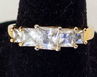 Size 6 3/4, Sterling Victorian Ring, Edwardian Ring, Antique Rings, Multi Stone Ring, Art Nouveau Ring, Elven Ring, Elegant Ring,