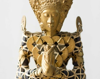 Antique Gold Balinese Coin Statue (Very Unique), Ancient Wedding Tradition Statue