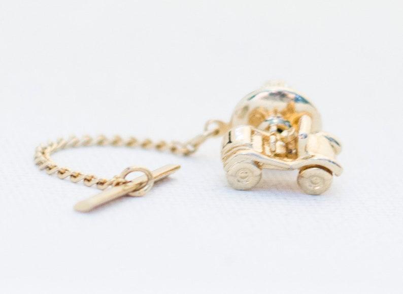 Gold Tie Pin Tie Tack SarahCov Tie Pin Gold Car Antique Tie Pin Vintage Tie Pin Gold Car Tie Pin Gold Tie Tack Car Tie Pin