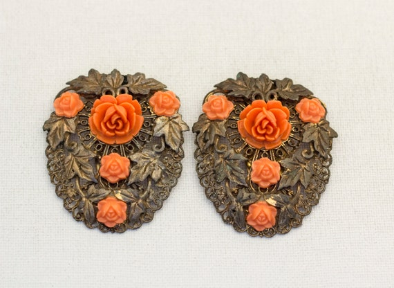 Large Floral Victorian Hair Clip, Large Hair Clip… - image 2