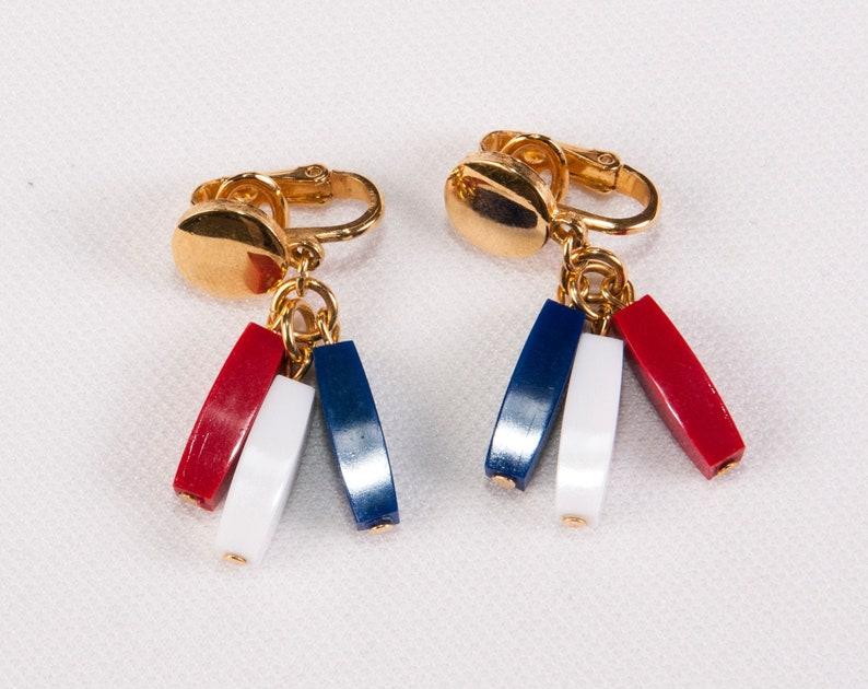 Clip On Earrings Dangle Earrings Mid-Century Jewelry Vintage Earrings Multicolored Gold Earrings Trifari Earrings Vintage Earrings