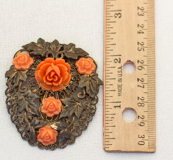 Large Floral Victorian Hair Clip, Large Hair Clip… - image 5